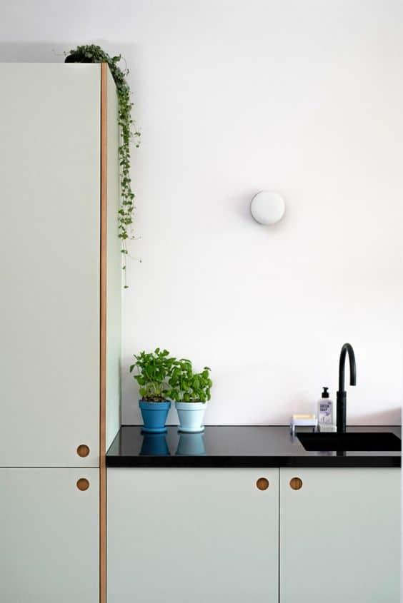 Pastel keukenkastjes + Quooker kraan